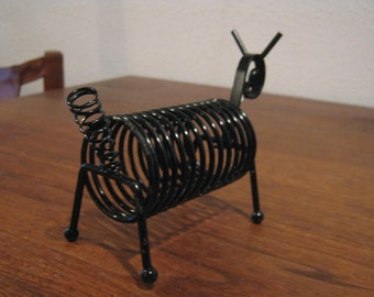 Mid Century Letter Holder Dog / Goat Abstract