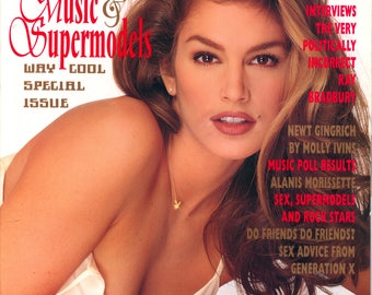 Playboy Magazine May 1996 Excellent Plus Condition Mature Music and Supermodels