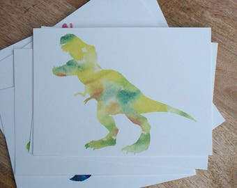 Watercolor T-Rex Print