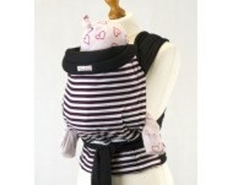Palm and Pond Mei Tai Baby Carrier - Brown Stripe