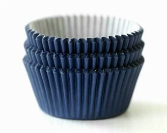 Solid Navy Blue Cupcake Liners