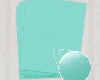 10 Sheets of Cover Stock - Teal and Blue-Green - DIY Invitations - Paper for Weddings & Other Events