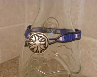 Leather and Tila Bead Bracelet