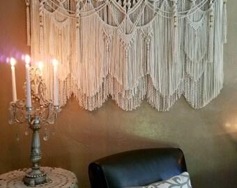 Extra Large Macrame Wall Hanging Tapestry Wedding Backdrop Macrame Curtain Woven Wall Hanging Boho Decor Hippie Decor Bohemian Decor