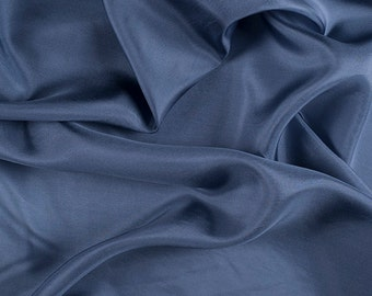 "45"" Wide 100% Silk Crepe de Chine Copenhagen Blue by the yard (1200M124)"