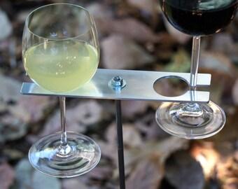 Boho Double Wine Glass Holder/ Garden Wine Holder