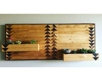 Boho succulent wall planter