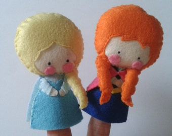 FREE GIFT Finger Puppet Pattern - Elsa and Anna (plus a Bonus Elsa Pattern for FREE)