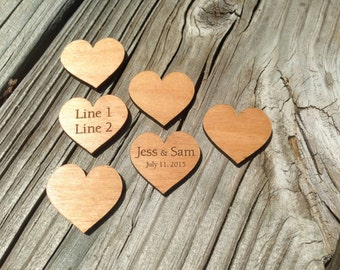 Custom Wood Hearts