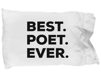 Poet Pillow Case, Gifts For Poet , Best Poet Ever, Poet Pillowcase, Christmas Present, Poet Gift