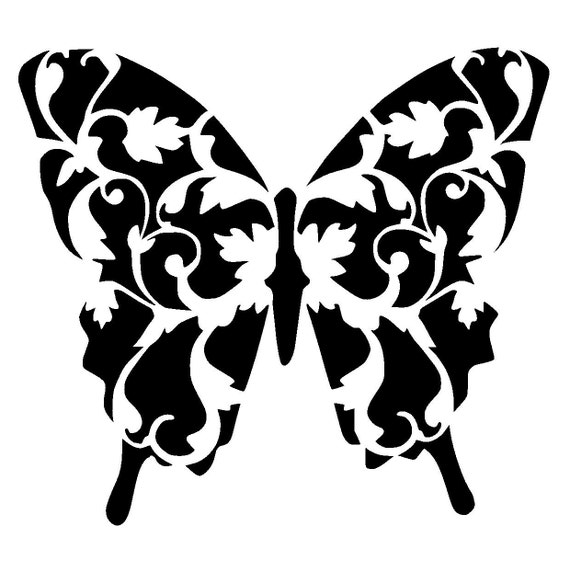 Juicy image inside butterfly stencil printable