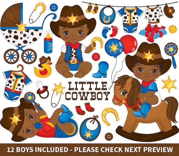 cowboy baby clipart vector cowboy clipart baby clipart rh etsy com Baby Boy Clip Art Baby Boy Clip Art