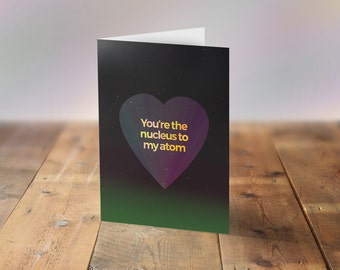 Anniversary Card Download, Science Anniversary Card, Geek Valentine, Geeky Card, Funny Science Card, I love science, Valentine's