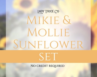 Mikie and Mollie Sunflower Set