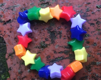 Rainbow Stretchy Bracelet