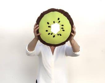 Kiwi Fruit Pillow -Tropical Citrus Summer Decor