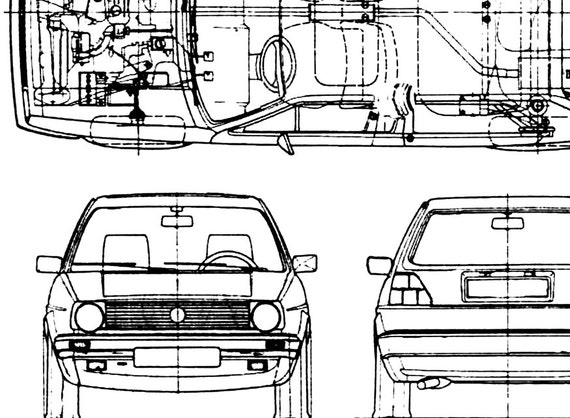 Volkswagen golf blueprint vw golf golf mk2 vw golf decor like this item malvernweather Image collections