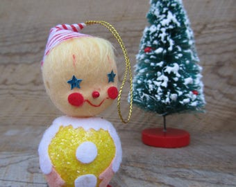 Cute Clown Christmas Tree Ornament Whimsical Circus Decoration