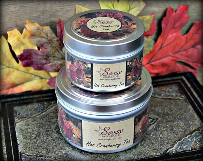 HOT CRANBERRY TEA | Candle Tin (4 or 8 oz) | Sassy Kandle Co.