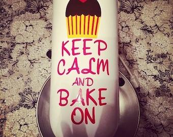 Keep Calm and Bake On Kitchenaid Mixer Decal