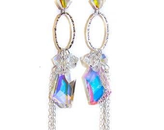 036S-Swarovski Crystal Chandeliers in sterling-silver