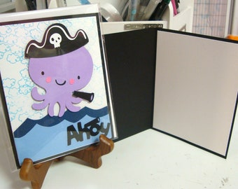 Octopus Ahoy greeting card