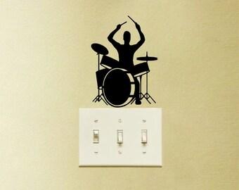 Drums Music Decal Vinyl Sticker Playing Instrument Laptop MacBook Home Decor