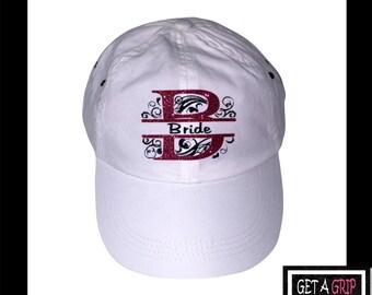 Bride Glitter Swirl Hat