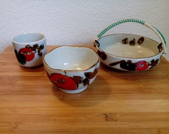 Niko Reg. copainted Japanese pottery Ceramic