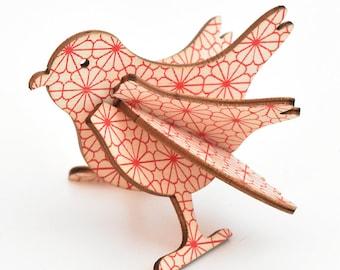 Small wooden bird Marie de house Sparrow