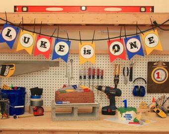 Personalized Handyman Birthday Banner