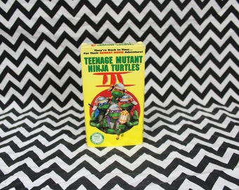 Teenage Mutant Ninja 3 Turtles In Time VHS Tape. 90s Kid TMNT Collectible Vhs Tape. Cult Classic Comic Book Kids Movie