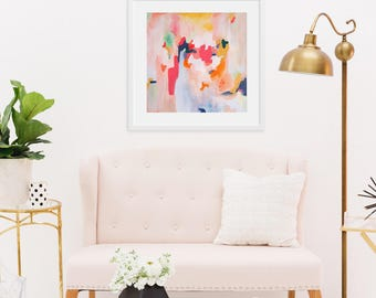 Brynn, Giclee Abstract Fine Art Print from Original Acrylic Abstract Painting 6x6-24x24