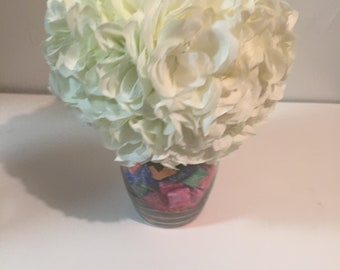 Flowers bouquet with candy