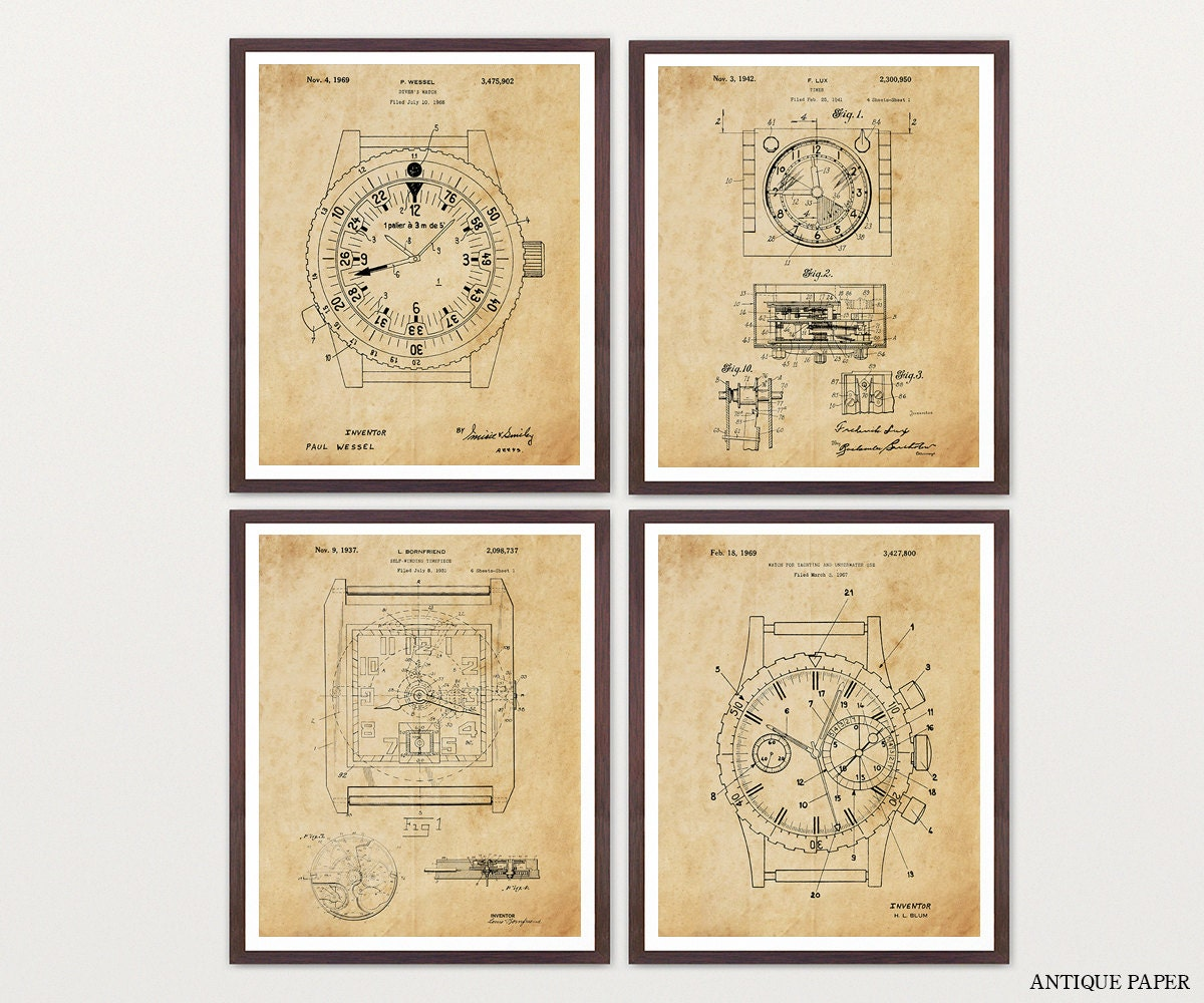 Watch Patent Posters - Watch Art - Rolex Poster - Rolex Watch ...