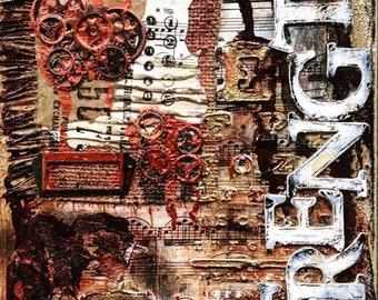 Strength  8x10 Inch Original Canvas
