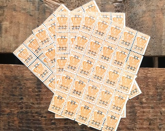 Vintage Trading Stamps - 4 Sheets, 100 Stamps - Vintage Saving Stamps, Junk Journal, Scrapbooking, Gold Coin Stamps, Paper Ephemera Stamps