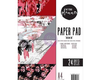 My Prima Planner Dream On Enchanted Midnight Bloom Double-Sided A4 Paper Pad 24/pkg Choose One