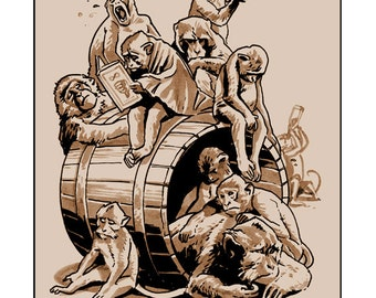 Tragedy 441: Barrel of Monkeys Print