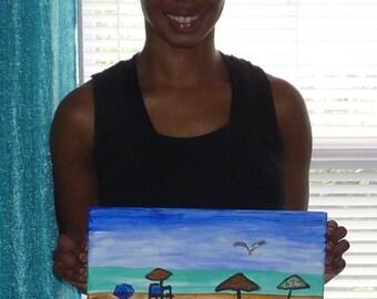 Beach and Umbrella Painting