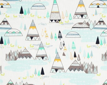 LOW STOCK - Indian Summer- Woodland Pine - Art Gallery Fabrics - Sarah Watson - 100% Premium Cotton Fabric - 50010 - Teepee Southwest Tribal