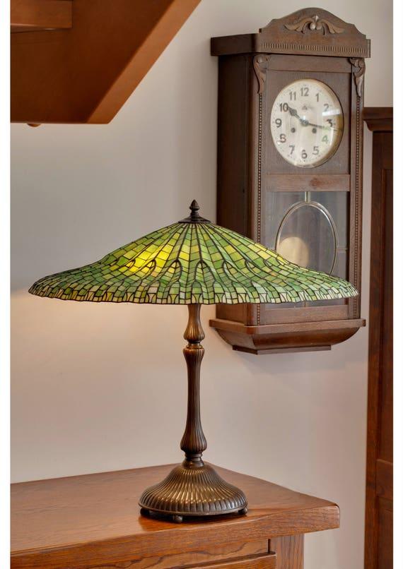 Schön Lotus Lampe, Tiffany Lampe, Glasmalerei Lampe, Tiffany Lampenschirm, Lampe  Grün, Glas, Glasmalerei Licht, Glasmalerei Tischlampe, Schreibtischlampe
