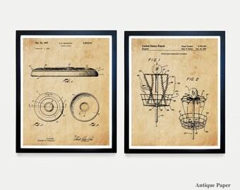 Frisbee Patent - Frisbee Golf - Disc Golf - Disc Golf Patent Art Poster - Disc Patent - Disc Art - Frisbee Poster - Frisbee Wall Art -