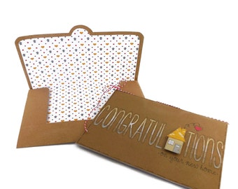 Congratulations On Your New Home Card and Envelope Set | Housewarming | New Home Card | New House | Moving Card | Little Boxes Card