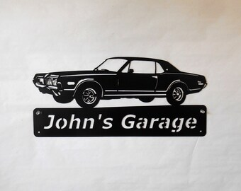 Personalized Man Cave Signs Etsy : Metal wall decor recycled car part art and more by just4theartofit