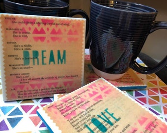 The Hills are Alive  |  The Sound of Music Upcycled Book Coasters