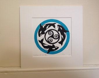 Loups de la mer originale lithographiée