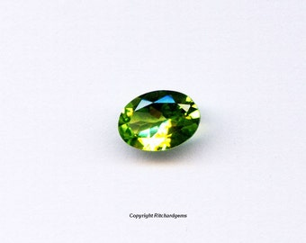 Natural 8x6mm Loose Oval Cut 1.18ct Peridot AAA Quality for One