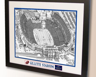 Gillette Stadium Art, home of the New England Patriots