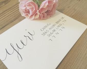 YURI Layout / Wedding Calligraphy Envelope Addressing / Hand Written / Tier 2 Layout